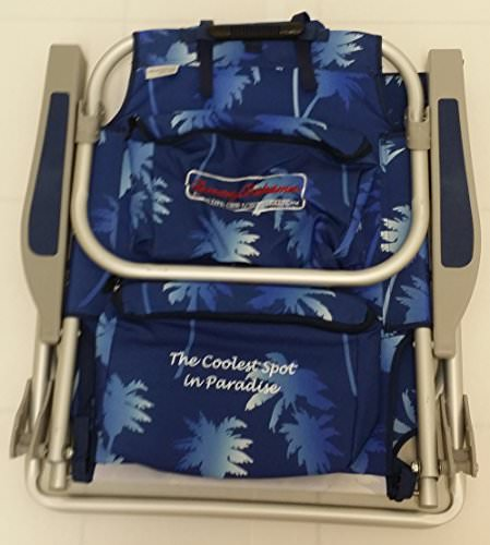 Tommy Bahama  Backpack Cooler Chairs with Storage Pouch and Towel Bar blue