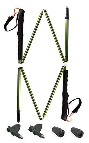 A Pair of MOUNTAIN YOYO M Series Ultra Light WeightAviation  Aluminium Alloy g oz Walking Pole Trekking Pole Walking Stick Collapsible Anti Shock Men Women Green  Pack MYYMGR