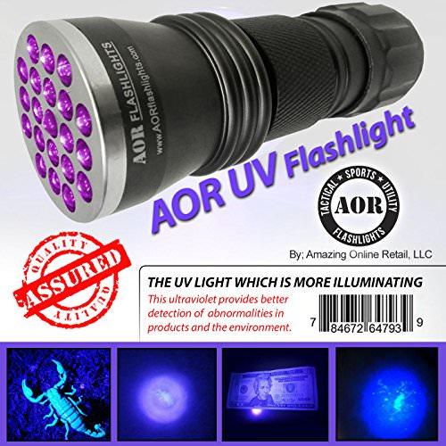 Aor Flashlights Uv Blacklight Flashlight Uv Flashlight