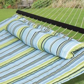 Best Choice Products® Hammock Quilted Fabric with Pillow Double Size Spreader Bar Heavy Duty New