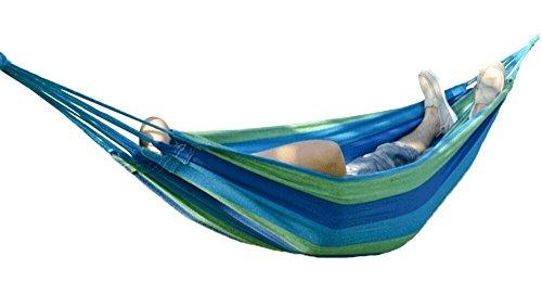 Buffalo Double Wide Hammock Cotton Fabric Travel Camping Hammock  Person lbs Bluegreendark Blue