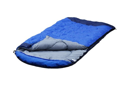 Bundle Monster Cool Weather Camping Sleeping Bag for  Seasons Spring Summer Fall Blue Adults