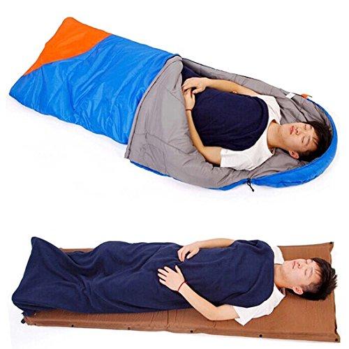 Bundle Monster Warm Cozy Multicolor Microfiber Fleece Adult Sleeping Bag Liners