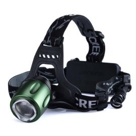 Canwelum Brightest CREE T6 Zoom & Rechargeable LED Camping Headlamp, Hiking or Fishing Head Lamp, Hunting LED Headlight (A Complete Set with Battery and Charger: Bigger Battery Power Capacity & with Protective Board)