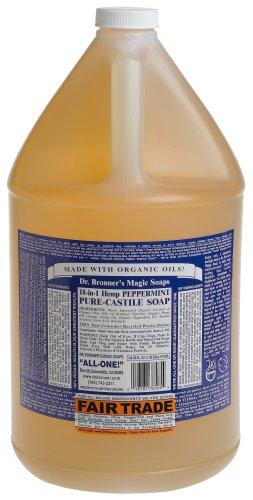 Castile Liquid Soap Peppermint Dr Bronners  Gallon Liquid