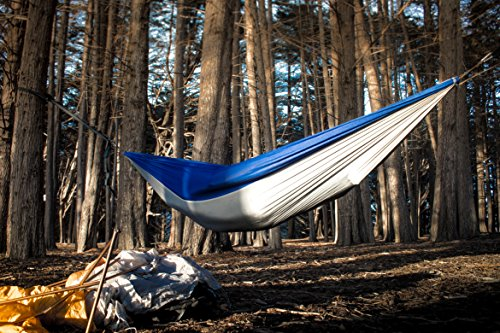 Classic Ultralight Camping Hammock FREE Daisy Chain  Loop Suspension System Included Perfect for Travel and Backpacking