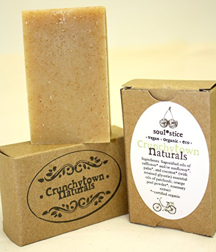 CrunchyTown Naturals Organic Bar Soap oz SoulStice PatchouliEarthy Scent