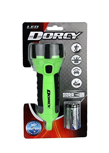 Dorcy   Floating Waterproof LED Flashlight with Carabineer Clip  Lumens Yellow Finish
