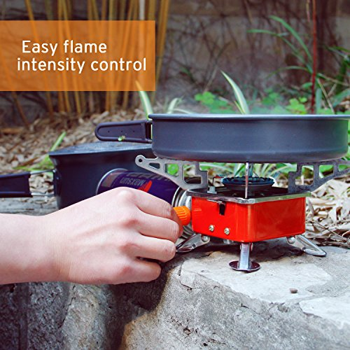 Etekcity E-gear Portable Collapsible Outdoor Backpacking Camping Stove  Butane Propane Burner for Gas Canisters with CP/P220/DOT2P type valves -  Camp