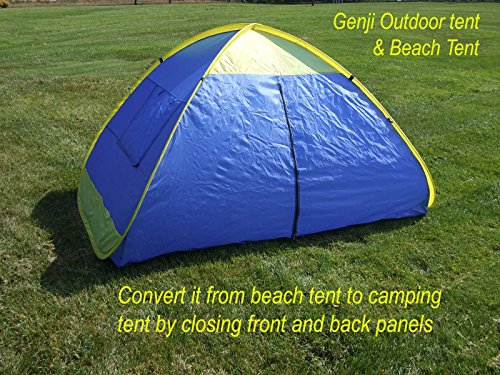 hot sales 16cf9 da1f6 Genji Sports Instant Outdoor and Beach Tent, Blue/Yellow Trims, One Size -  Camp Stuffs