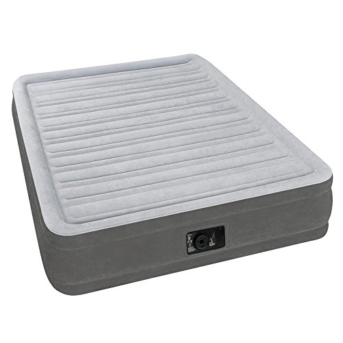 Intex Comfort Plush Mid Rise Dura Beam Airbed with Built in Electric Pump Bed Height  Full