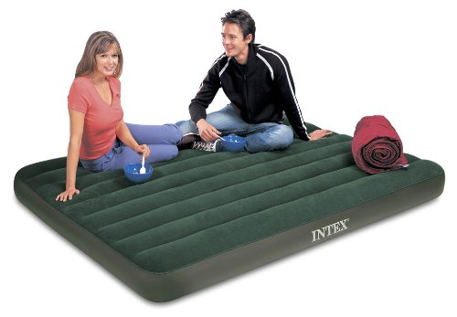 Intex Prestige Downy Airbed Kit with Hand Held Battery Pump Queen