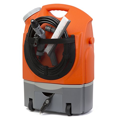 Ivation multipurpose electric portable smart washer water tank w built in rechargeable battery for Portable watering tanks for gardens