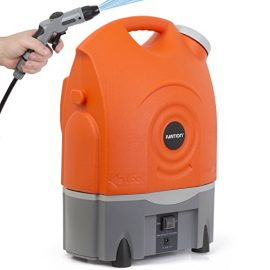 Ivation Multipurpose Electric Portable Smart Washer Water-Tank w/ Built-In Rechargeable Battery & Integrated Roller Wheels - Perfect for Washing Cars, RVs & Pets; Gentle Enough to Serve as Personal Shower When Camping & Hiking; Convenient & Effective as Lawn & Garden Care Tool