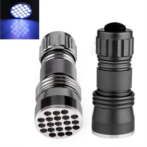 LingsFire  LED UV Ultra Violet Blacklight Pocket Flashlight for Spotting Scorpions and Bed Bugs Counterfeits AC Leaks Pet Stains Counterfeit Money Detector and Detect Fluorescent Substance battery n