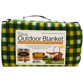 "Outdoor Blanket with Handle - Beach, Picnics, Camping, All Purpose - Waterproof & Foldable - Large 50"" X 58"" - $19.95 LIMITED LIME LAUNCH PRICE"