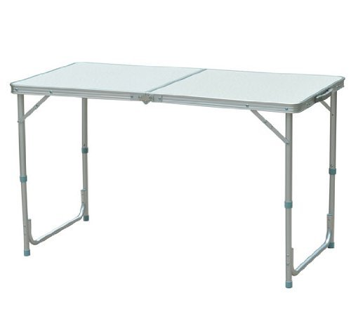 Outsunny Aluminum Camping Folding Camp Table w Carrying Handle
