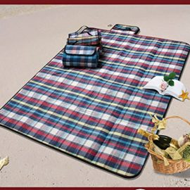 PONY'S Premium Plaid Picnic Blanket - Waterproof - Cotton & PEVA - A Necessity for Picnic, Camping, Outdoor and Sports Events