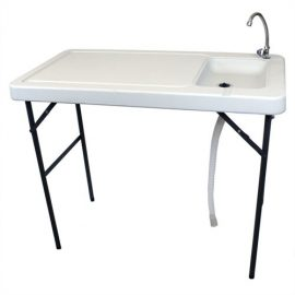 Palm Springs Folding Portable Fish Fillet Cleaning & Hunting Table with Sink