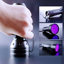 Phileex 395 nM 51 UV Ultraviolet LED flashlight Blacklight 3 AA Battery with feature Currency Detector