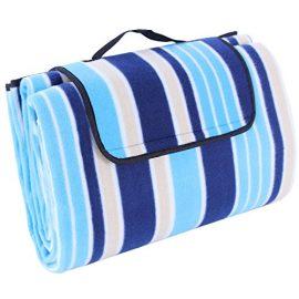"Songmics Waterproof Picnic Blanket Multicolor Beach Camping Outdoor Mat Pad 77""X59"" UGCM60L"