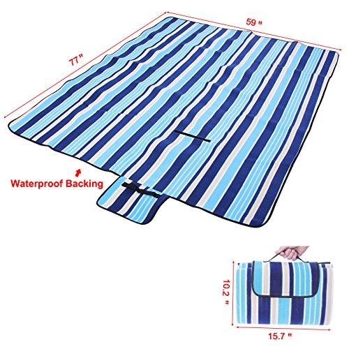 Songmics Waterproof Picnic Blanket Multicolor Beach Camping Outdoor Mat Pad X UGCML
