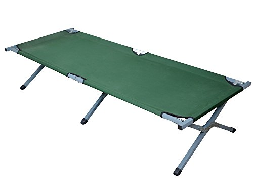 TMS Outdoor Portable Folding Cot Military Hiking Camping Sleeping Bed Fish Full Size