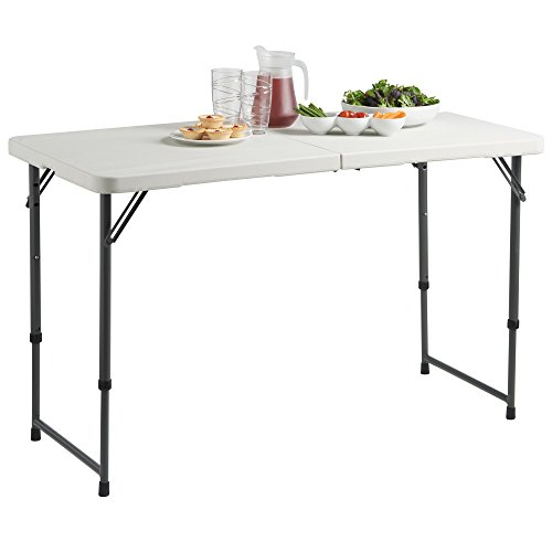 Merveilleux VonHaus 4ft Adjustable Height Folding Trestle Table ...