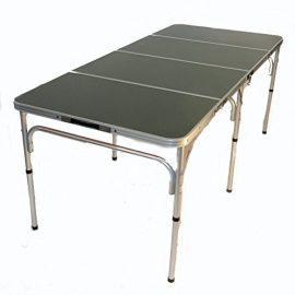 World Outdoor Products Original QUATRO FOUR Six Person Lightweight Aluminum Adjustable Portable Folding Table.
