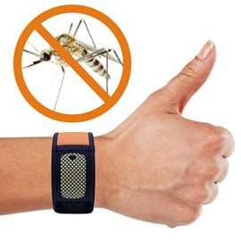 iCooker® Mosquito Repellent Bracelet + 2x FREE Repellent Refills - [No Spray, DEET-FREE] Best Pest Control Repeller Products for Ants, Insects & other Mosquitoes - Perfect for Kids, Adults, Women and Men - 100% Money Back Guarantee [ Black / Orange]