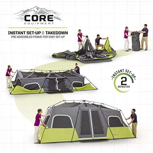 CORE 12 Person Instant Cabin Tent - 18' x 10'