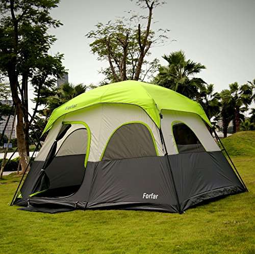 Forfar 5 Persons Tent & Forfar 5 Persons Tent - 3 Seasons 2 Rooms Camping Tent