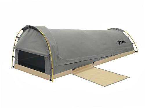 Kodiak Canvas  Person Canvas Swag Tent with Sleeping Pad Olive One Size