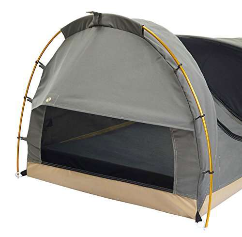 Kodiak Canvas 1-Person Canvas Swag Tent with Sleeping Pad, Olive, One Size  - Camp Stuffs