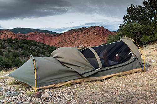 Kodiak Canvas 1 Person Canvas Swag Tent With Sleeping Pad