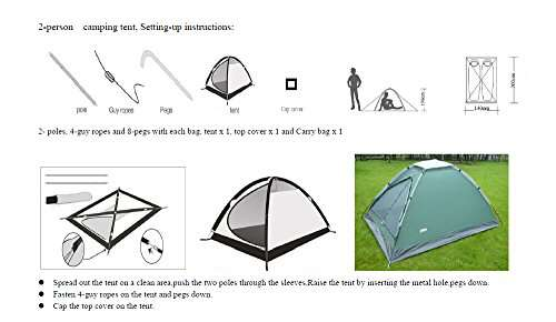USA STAR Mountain Waterproof Tent ...  sc 1 st  C& Stuffs & USA STAR Mountain Waterproof Tent Dome Outdoor Camping Instant ...