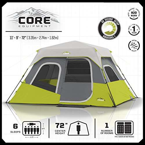 Core 6 Person Tent Instant Cabin Core Tents Camp Stuffs