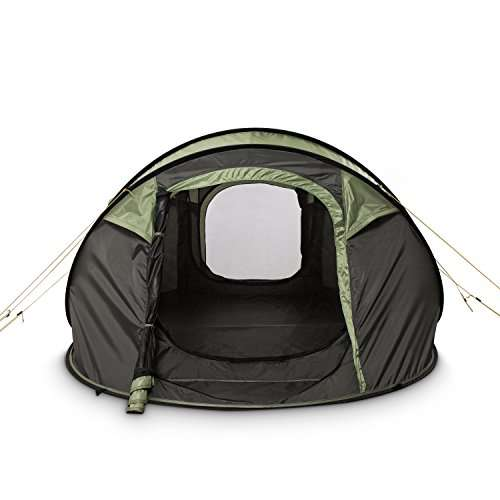 FiveJoy 4-Person Instant Pop-Up Tent - Automatic Setup in Seconds ... 5d7ee66681f1