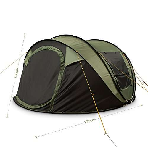 FiveJoy 4-Person Instant Pop-Up Tent u2013 Automatic Setup ...  sc 1 st  C&stuffs & FiveJoy 4-Person Instant Pop-Up Tent - Automatic Setup in Seconds ...