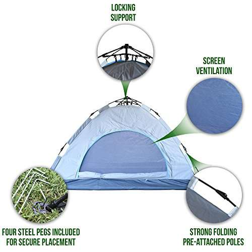 Eagletail Outdoor Instant Tent ...  sc 1 st  C&stuffs & Eagletail Outdoor Instant Tent; 3-Person Automatic Camping Tent ...