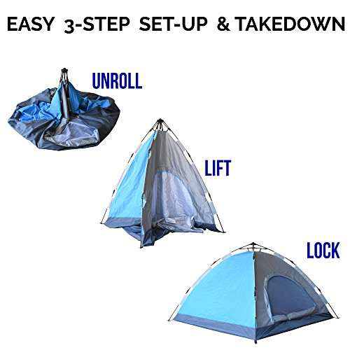 Eagletail Outdoor Instant Tent ...  sc 1 st  C&stuffs & Eagletail Outdoor Instant Tent; 3-Person Automatic Camping Tent ...