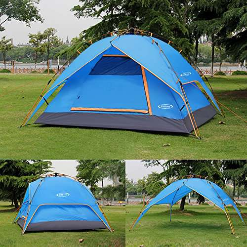G4Free Instant 3-4 Person Dome Tent - Double-Wall Two
