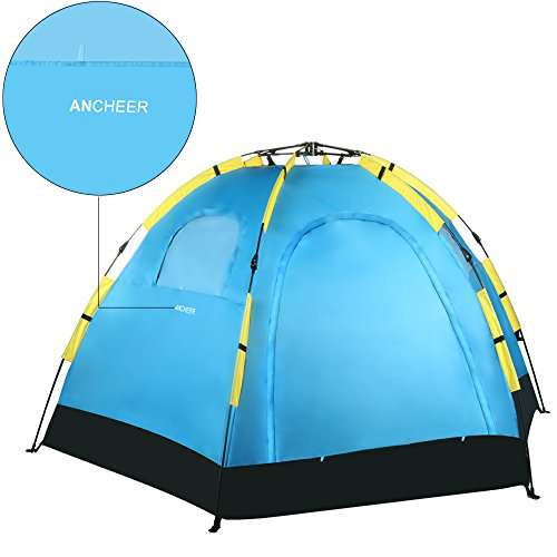 Gracelove   Person Dome Tent Automatic Pop Up Camping Family Tent  Door  Window Zipper