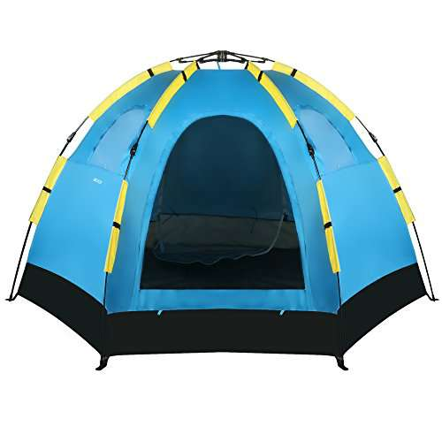 Gracelove 5-8 Person Dome Tent Automatic Pop Up C&ing Family Tent 2 Door 3 Window Zipper  sc 1 st  C&stuffs & Gracelove 5-8 Person Dome Tent Automatic Pop Up Camping Family ...