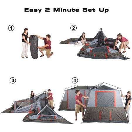 Ozark Trail 16×16 Feet 12 Person 3 Room Instant Cabin Tent ...