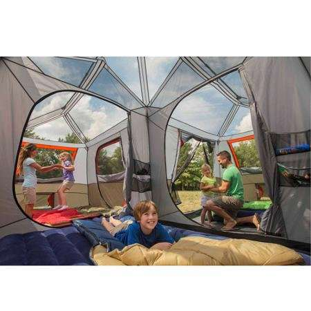 Ozark trail 16x16 feet 12 person 3 room instant cabin tent for 12 by 16 room