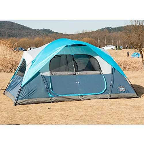 Timber Ridge Large Family Tent for Camping with Carry Bag  Rooms