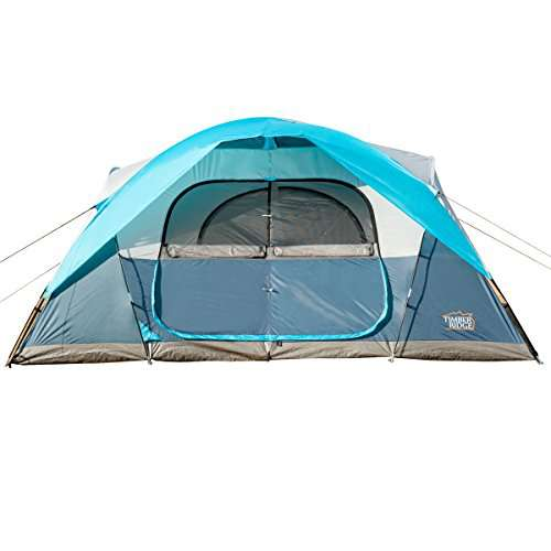 Timber Ridge Large Family Tent For Camping With Carry Bag