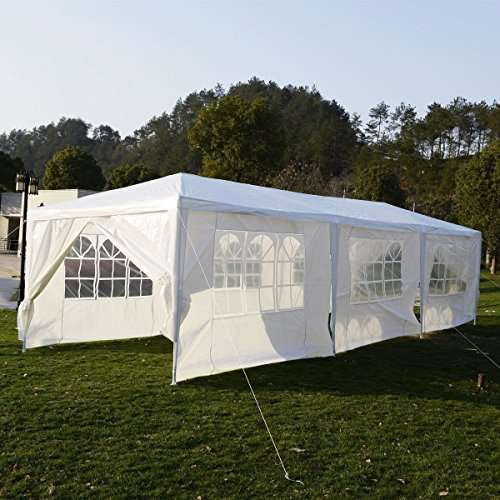 Oshion-10x30-White-Outdoor-Gazebo-Canopy-Heavy-Duty- & Oshion 10u0027x30u0027 White Outdoor Gazebo Canopy Heavy Duty Wedding ...
