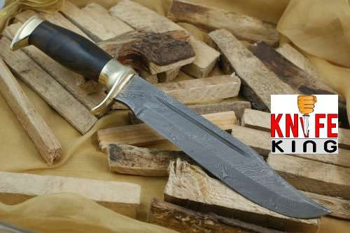 Knife King Big Bro damascus bowie knife Comes with Sheath